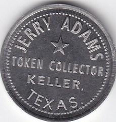 PERSONAL TOKENS OF COLLECTOR JERRY ADAMS