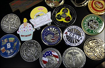 ARTICLE HIGHLIGHTS CHALLENGE COIN SELLER'S BUSINESS