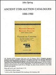 BOOK REVIEW: JOHN SPRING, ANCIENT COIN AUCTION CATALOGS: 1880-1980