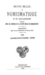 BACK ISSUES OF REVUE BELGE DE NUMISMATIQUE FOR SALE