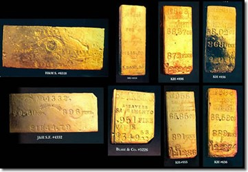 REWARD OFFERED FOR STOLEN S.S. CENTRAL AMERICA GOLD INGOTS