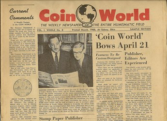 COIN WORLD SAMPLE ISSUE: VOLUME 1, NUMBER 0