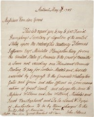 HERITAGE OFFERS 1785 ADAMS COMITIA AMERICANA MEDALS LETTER