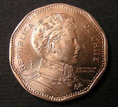 HEADS ROLL AT THE CHILEAN MINT OVER COIN'S SPELLING MISTAKE