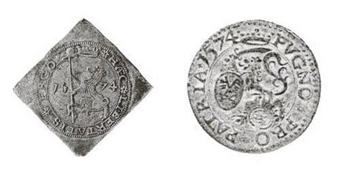 QUERY: TERM FOR PAPER PRESSED INTO COIN FORM SOUGHT