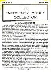 THE EMERGENCY MONEY COLLECTOR, VOL. 1 NO. 1