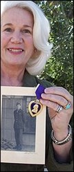 ON THE PURPLE HEART MEDAL AND CERTIFICATE