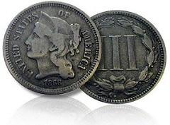 1868 THREE-CENT NICKEL FOUND IN CHANGE AT CHIC-FIL-A