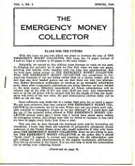 THE EMERGENCY MONEY COLLECTOR, VOL. 1 NO. 3