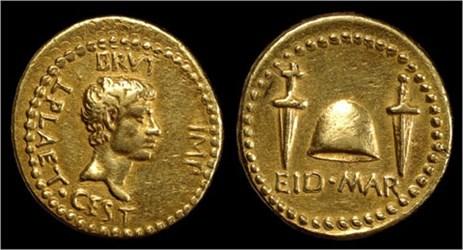 BRITISH MUSEUM DISPLAYS UNIQUE GOLD EID MAR COIN