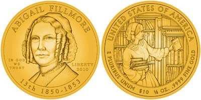 BIBLIOPHILES SHOULD LOVE THE ABIGAIL FILLMORE FIRST SPOUSE COIN