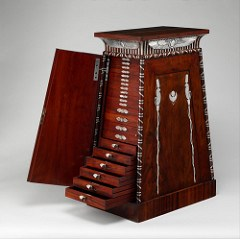 A FRENCH COIN CABINET C1809-19 BY JACOB-DESMALTER