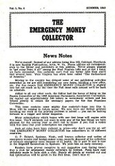 THE EMERGENCY MONEY COLLECTOR, VOL. 1 NO. 4