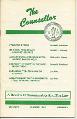 QUERY: REVIEW OF NUMISMATICS AND THE LAW