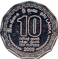 SRI LANKA REPLACING TEN-RUPEE BANKNOTE WITH COINS