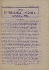 THE EMERGENCY MONEY COLLECTOR, VOL. 2 NO. 2