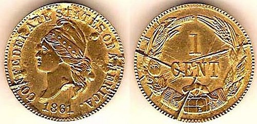 GOLD CONFEDERATE CENT RESTRIKES