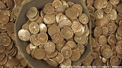 LARGEST BYZANTINE COIN HOARD UNCOVERED IN MACEDONIA