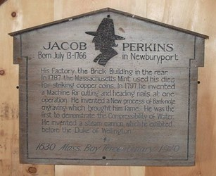 DICK HANSCOM VISITS THE NEWBURYPORT JACOB PERKINS BUILDING