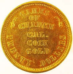 MORE ON THE DIANA GAMES OF CHANCE TWENTY DOLLAR GOLD PIECE