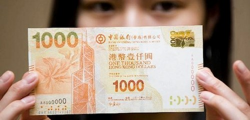 HONG KONG TO ISSUE NEW BANKNOTES WITH BRAILLE