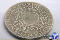 1736 COIN FOUND BY TENNESSEE STREET SWEEPERS