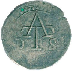 A FRENCH COUNTERMARK OF LOUIS XIII FOUND IN SRI LANKA