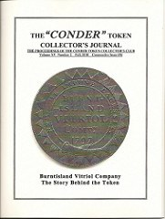 THE CONDER TOKEN COLLECTOR'S JOURNAL FALL 2010