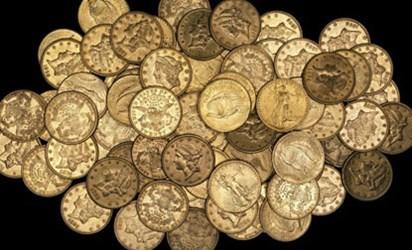 U.S. GOLD COIN HOARD FOUND IN EAST LONDON GARDEN