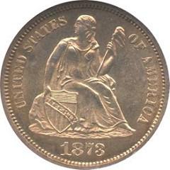 LOUIS ELIASBERG�S 1873-CC NO ARROWS DIME LETTER OF RECEIPT
