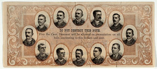 W.S. HILL BASEBALL ADVERTISING NOTE