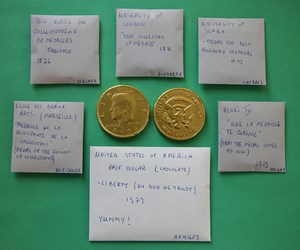 CHOCOLATE COINS, ATTRIBUTED AND PRICE-CODED