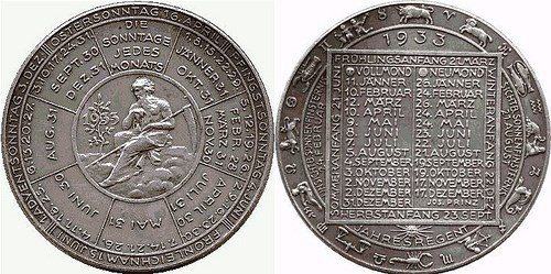 FEATURED WEB PAGE: AUSTRIAN CALENDAR MEDALS