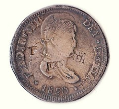 AN INTERESTING MEXICO CITY NECESSITY COIN OF FERDINAND VII