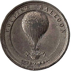 FEATURED WEB PAGE: COPPIN'S 1858 BALLOON MEDAL