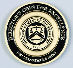 MOY'S DIRECTOR'S COIN FOR EXCELLENCE