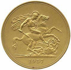 1937 KING GEORGE VI GOLD MATT PROOF COINS