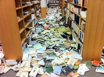 EARTHQUAKE DAMAGE TO LIBRARIES