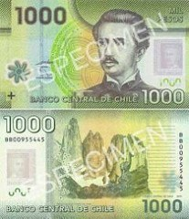 CHILE ISSUES NEW POLYMER 1000 PESO BANKNOTES