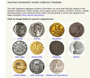 MANTIS: AMERICAN NUMISMATIC SOCIETY COLLECTION DATABASE