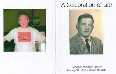 MORE ON LEN HARSEL, 1935-2011