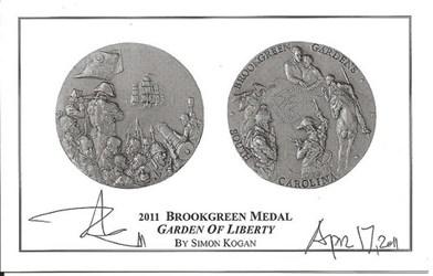 THE 2011 BROOKGREEN GARDENS MEDAL BY SIMON KOGAN