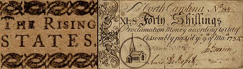 FEATURED WEB PAGE: North Carolina Colonial Paper Money