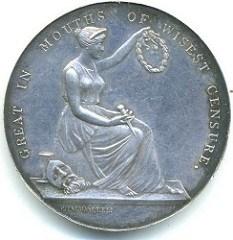 1834 EDWIN FORREST PORTRAIT MEDAL