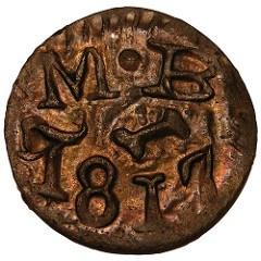 NUMISMATIST ARTICLE DISCUSSES 1817 TEXAS JOLA COINS