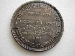 QUERY: THE JOURNAL-EXAMINER TRANSCONTINENTAL YELLOW FELLOW MEDAL