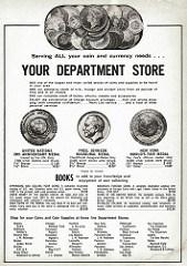 COINAGE COIN SHOP ADS CIRCA 1965