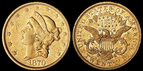 1870-CC DOUBLE EAGLE OFFERED BY BONHAMS & BUTTERFIELDS