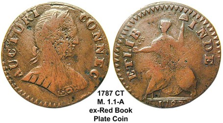 QUERY: 1787 CONNECTICUT CENT REDBOOK PLATE COIN INFORMATION SOUGHT
