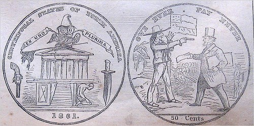 HARPER�S WEEKLY PROPOSAL FOR A CONFEDERATE STATES COIN